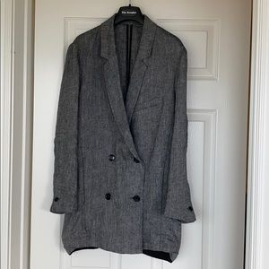 Linen Blazer/oversize-The Kooples